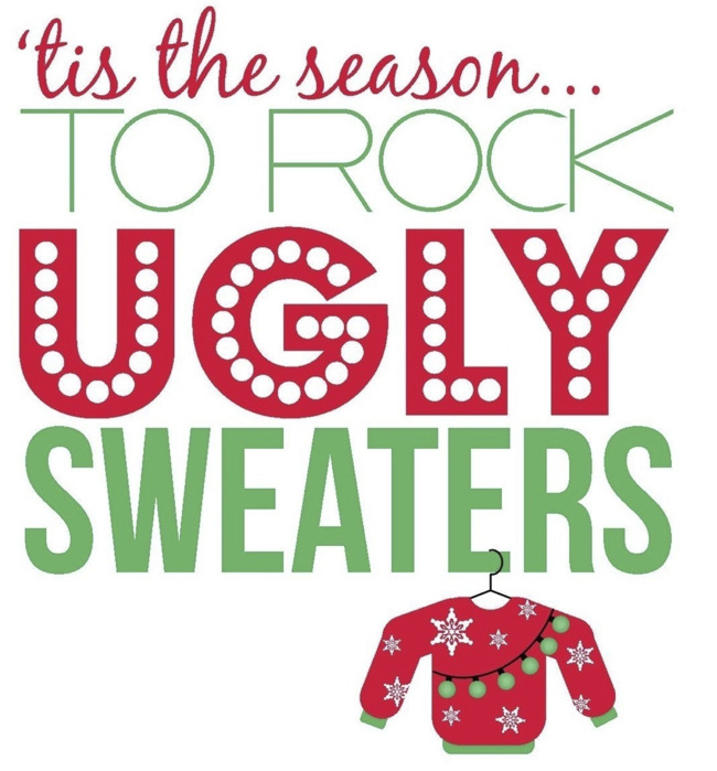 """""""Tis the season to rock ugly sweaters"""" poster"""