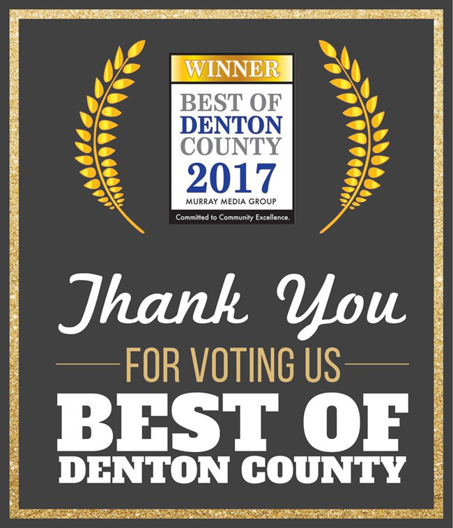 Thank you poster by Primrose school of Lantana for being voted the best of Denton county
