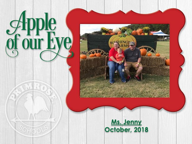 October's Apple of Our Eye, Ms. Jenny