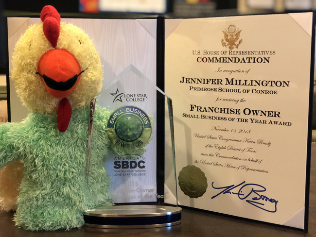 Percy Small Business Franchise Owner Award