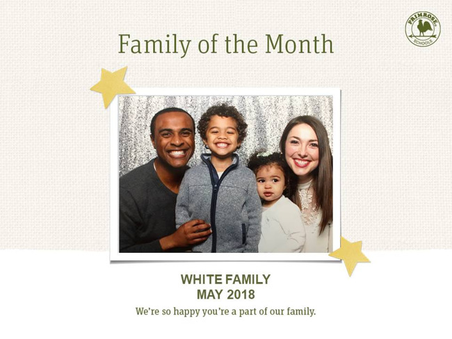 white family family of the month