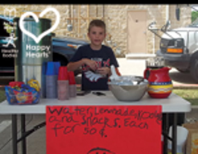 Young Everett at his lemonade stand