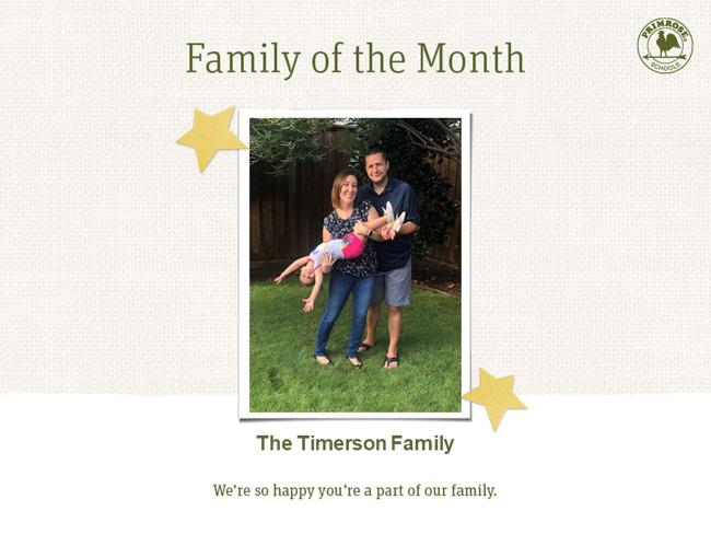 family of the month mom dad daughter primrose plano preston meadow october
