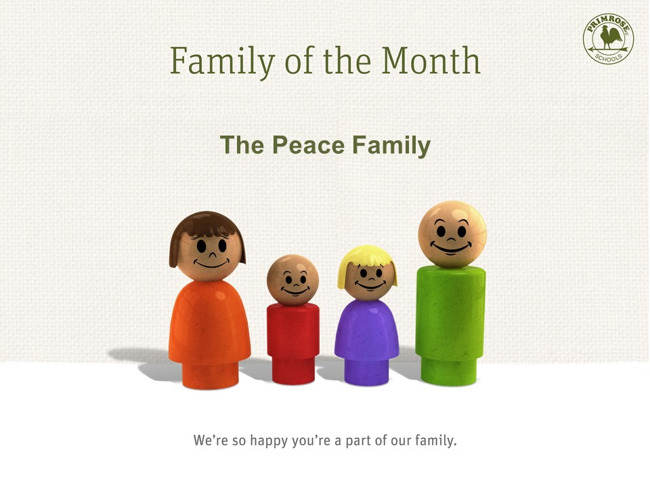 Picture of wooden family