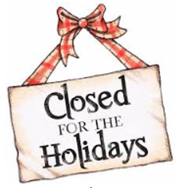Holiday Closing Sign