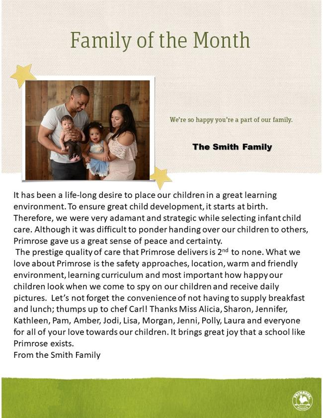 The Xavier and Carlotta Smith Family