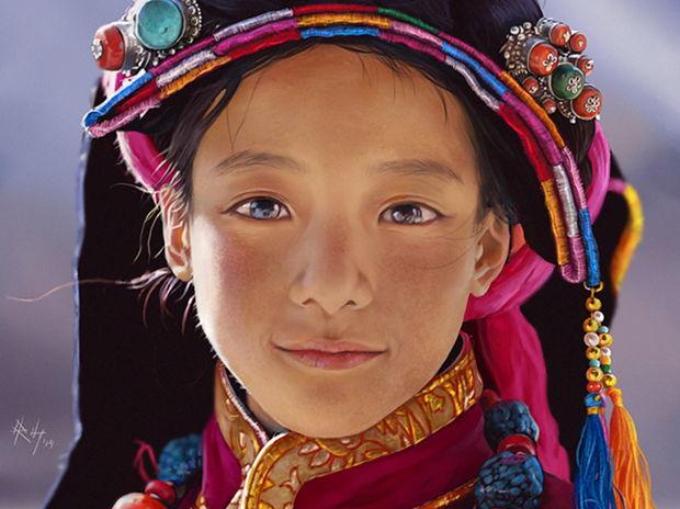 Photo Study (Tibet Girl)