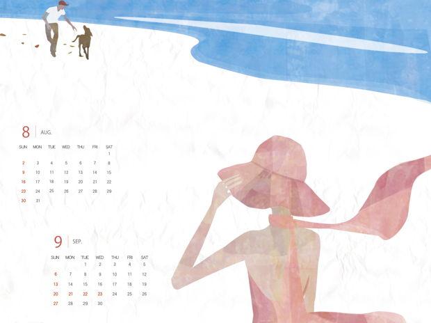2015年8−9月カレンダー