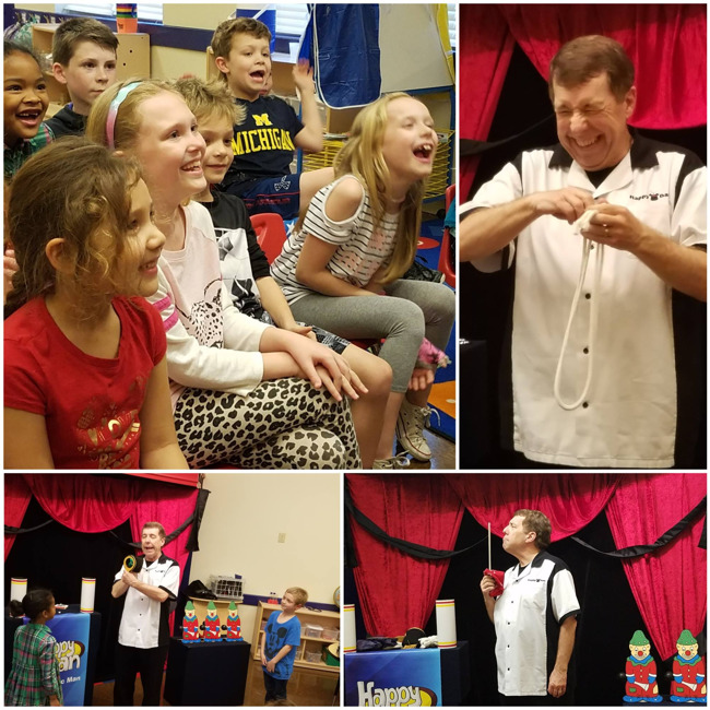 Happy Dan Magic Man Visits Explorers Afterschool Students