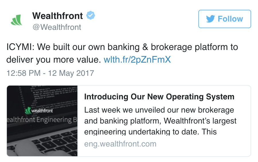 Wealthfront nixes Apex Clearing and explains it as step in