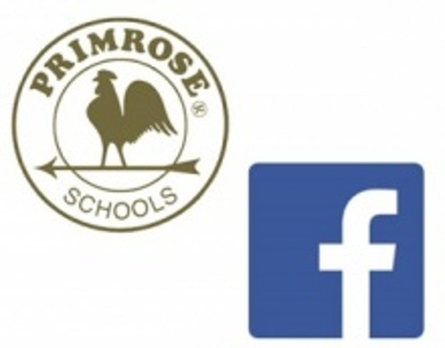 Facebook logo and the Primrose schools logo