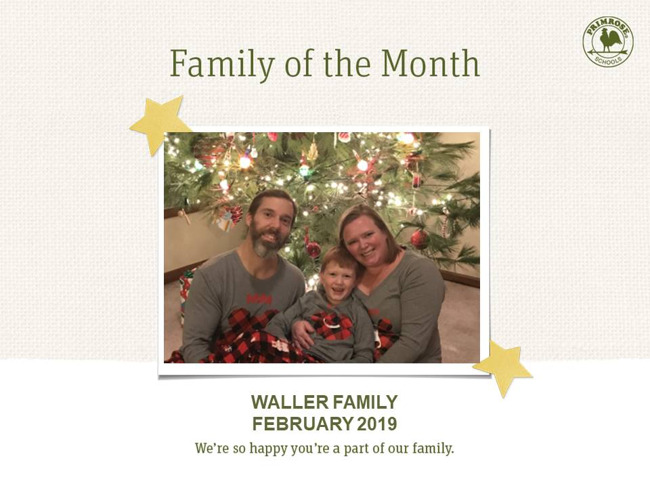 waller family of the month february