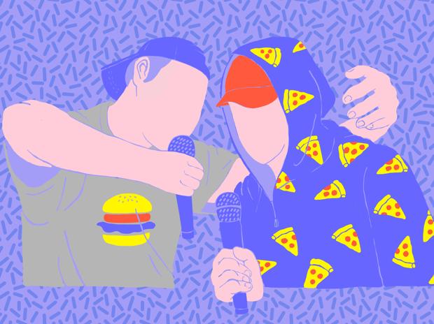 pizza vs hamberger