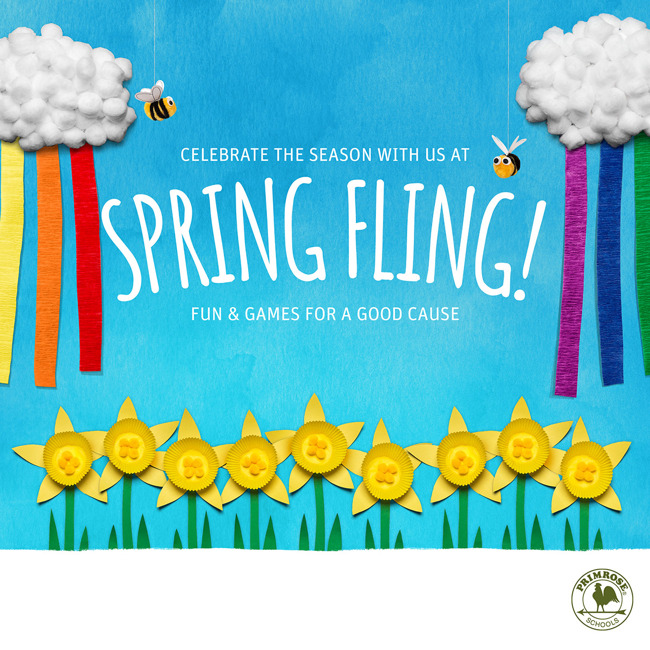 Colorful spring fling poster