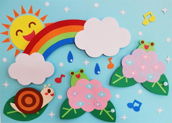 梅雨の壁面飾り☆