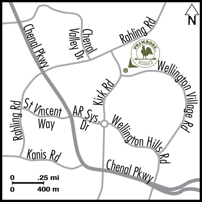 Map explaining the school location