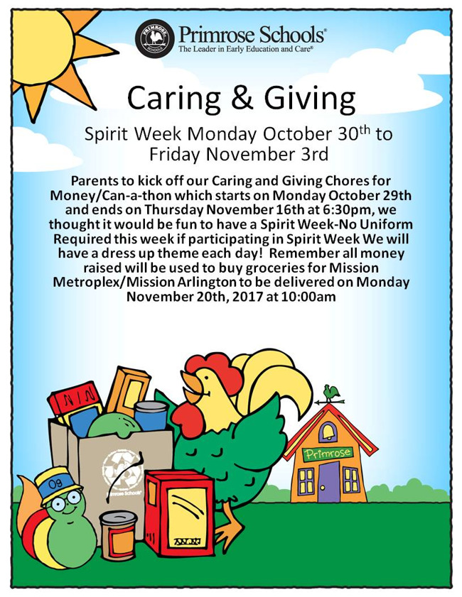 Caring and Giving Spirit Week!