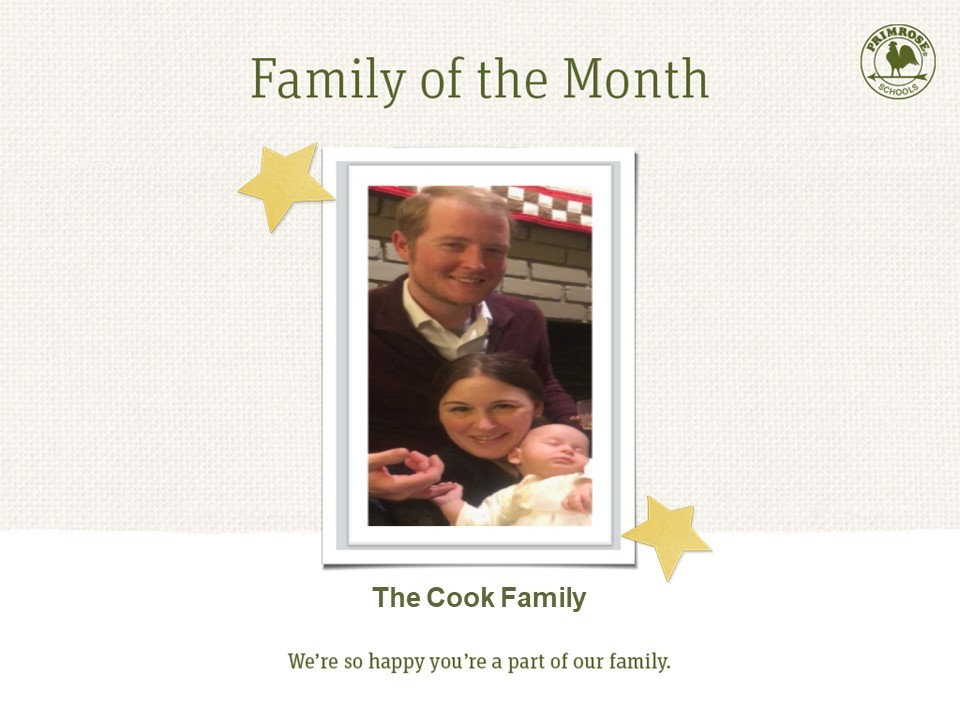 family of three baby girl mom dad happy family of the month