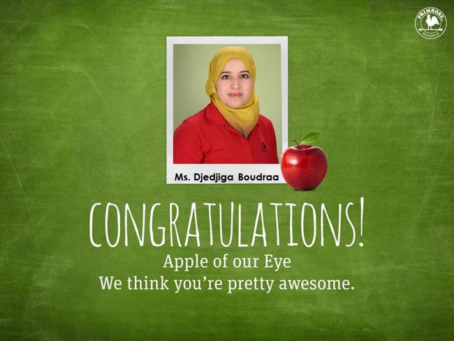 Apple of Our Eye : Ms. Djedjiga Boudraa