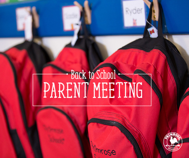 backpacks - back to school parent meeting