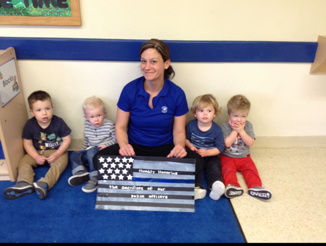 Toddlers made special artwork to send to the Richardson police department honoring their service.