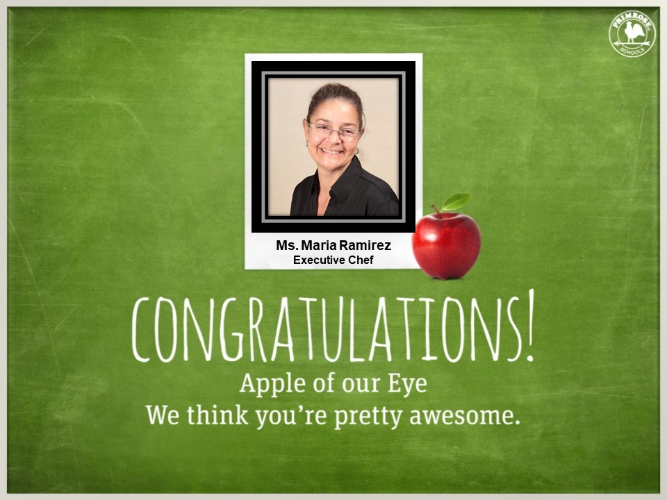 executive chef maria dedication love black shirt glasses smile happy chef primrose schools preston meadow