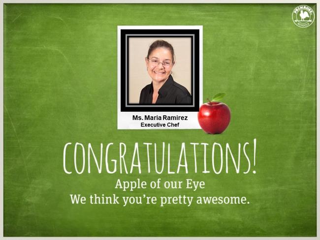 executive chef maria dedication love black shirt glasses smile happy chef primrose schools preston meadow