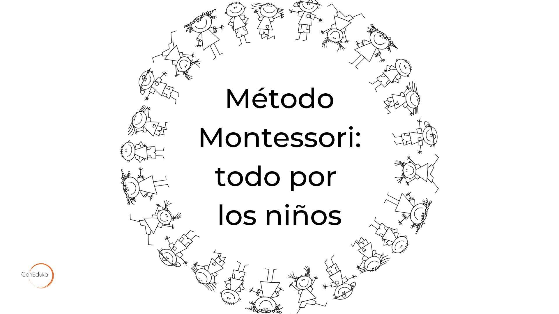método montessori para niños de primaria