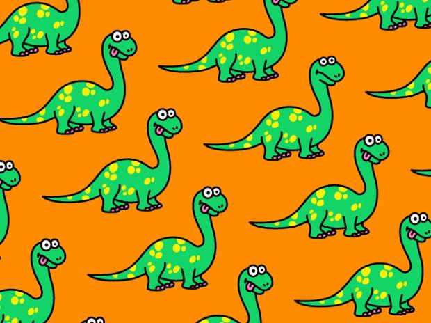 ブラキオサウルス柄