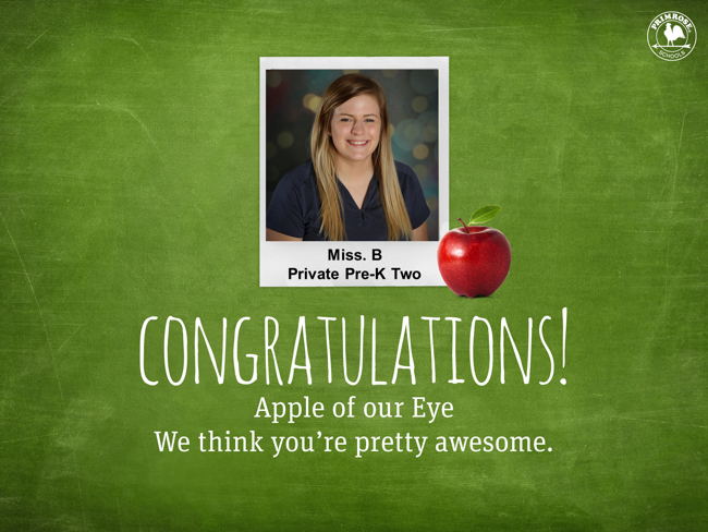 Apple of our eye poster featuring Miss Halie Beavers