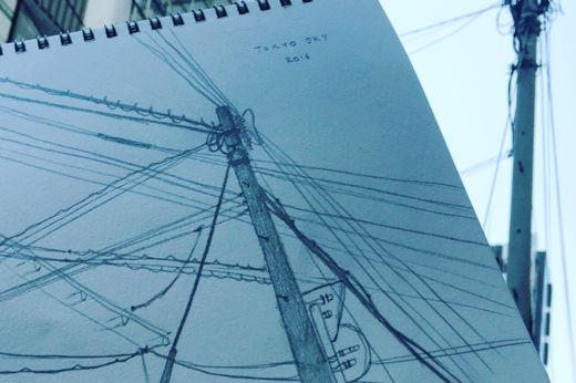 Wire cut Tokyo sky 2016