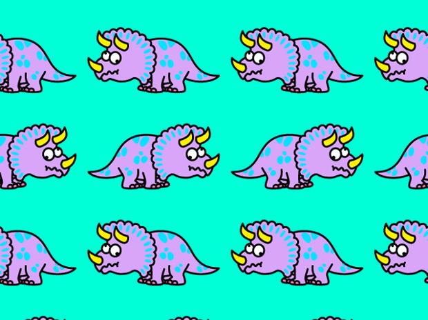トリケラトプス柄