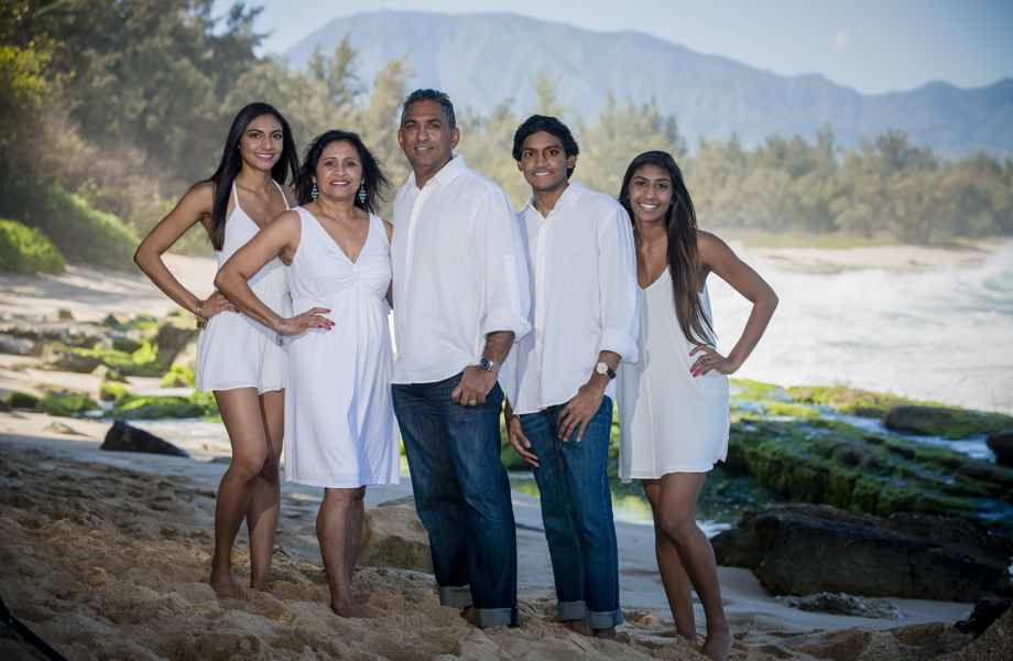 Franchise Owners of Primrose School Anita and Pramod Patel with their family