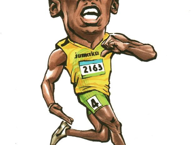 Usain Bolt ウサイン・ボルト似顔絵