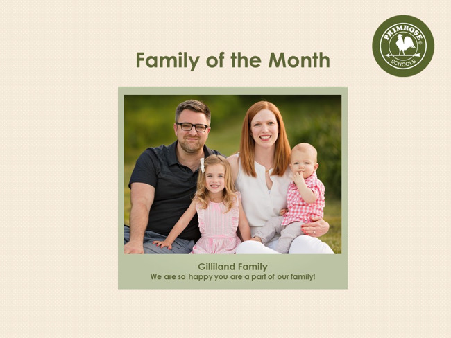 September Family of the Month