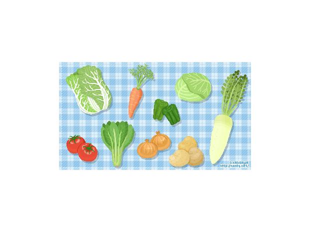 ドット絵で野菜