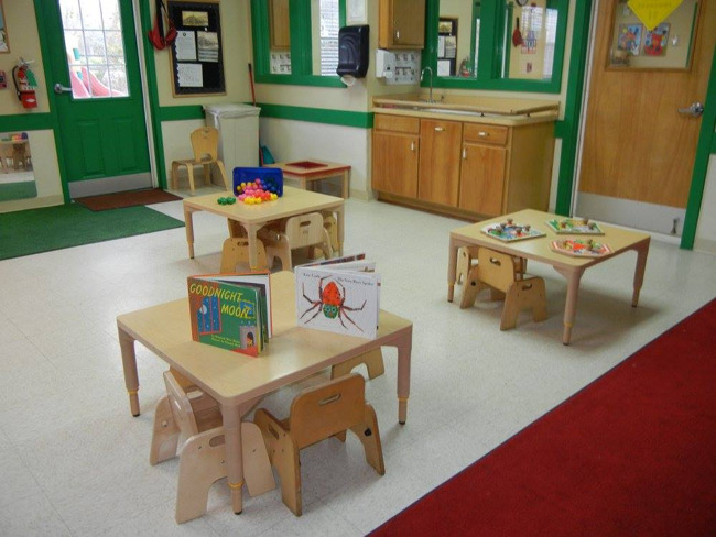 Interior of the toddler classroom at Primrose school of Sienna