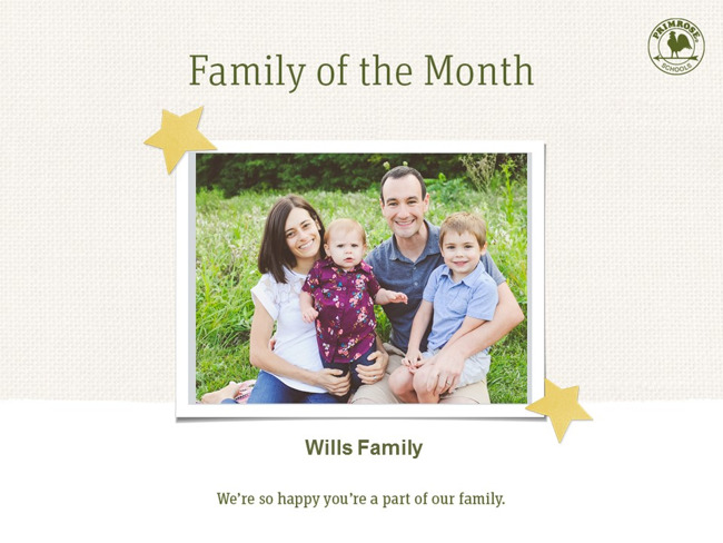 Wills Family - Family of the Month!