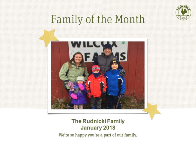 Family of the Month - January 2018