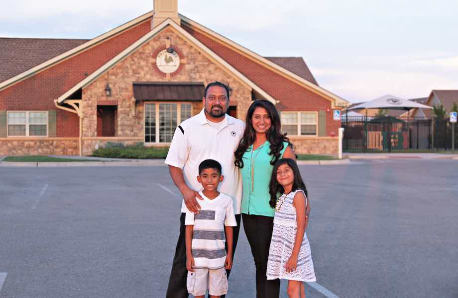 Franchise Owners of Primrose School Rajesh and Anjana Bhakta with their family