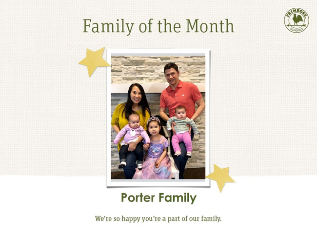 April Family of the Month - The Porter Family