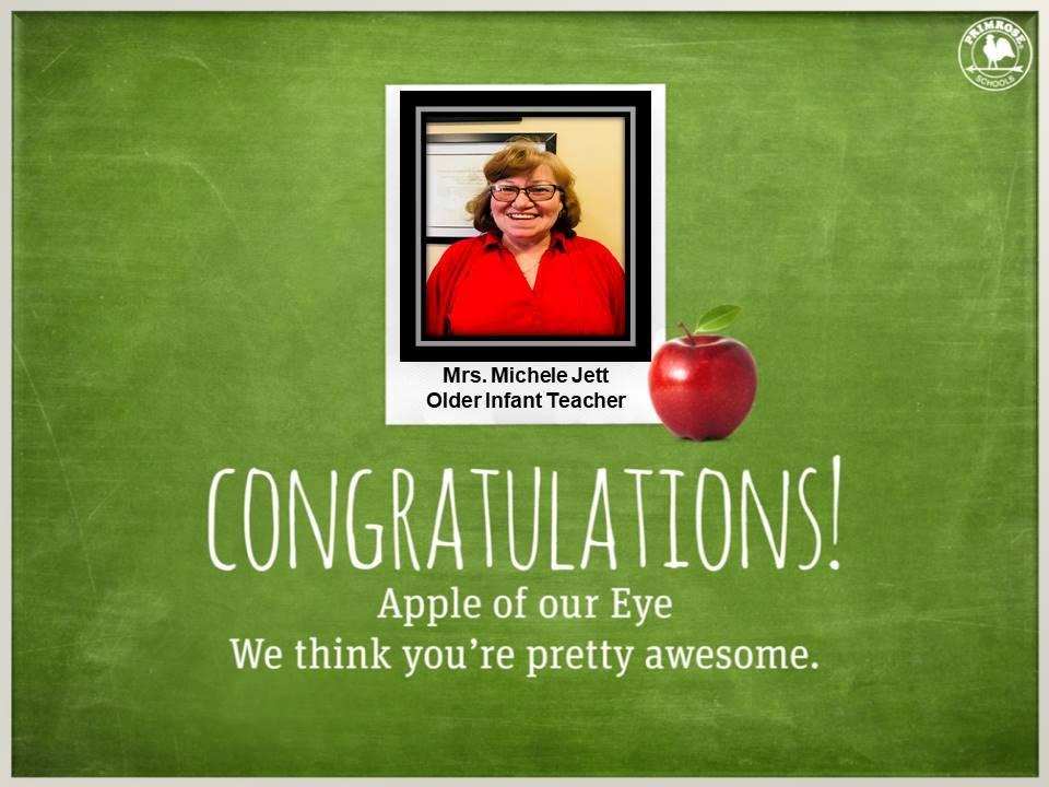 jett red teacher toddler infant apple eye