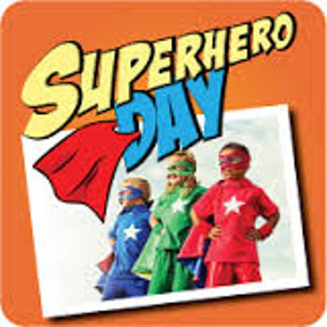 Superhero day poster