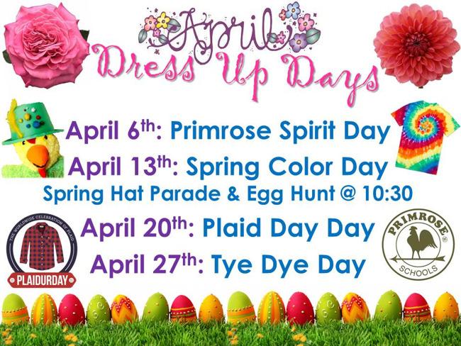 April Dress Up Days