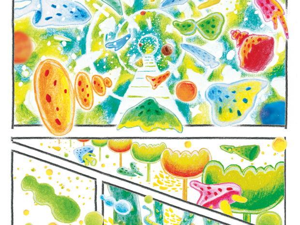 "Silent manga ""Micro world"""