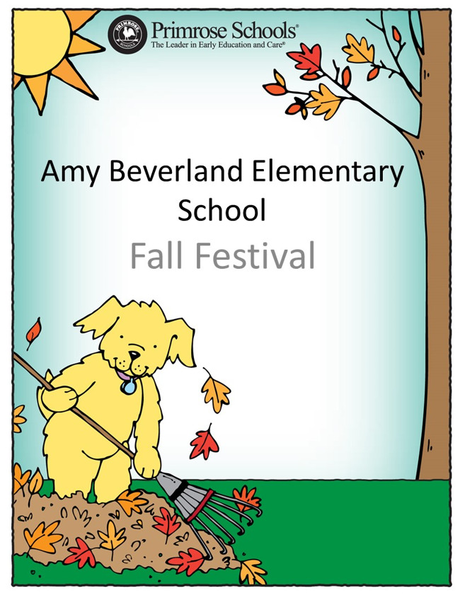 flyer depicting Amy Beverland's Fall Festival