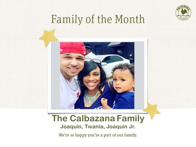 Congratulations on being our August Family of the Month!