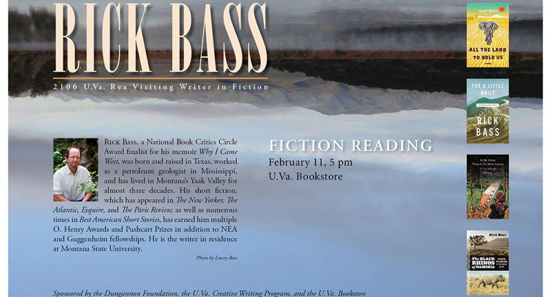 Rick Bass Fiction Reading