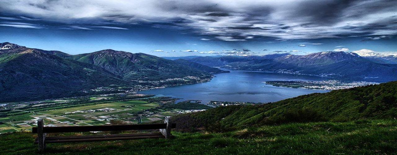 attico con vista lago
