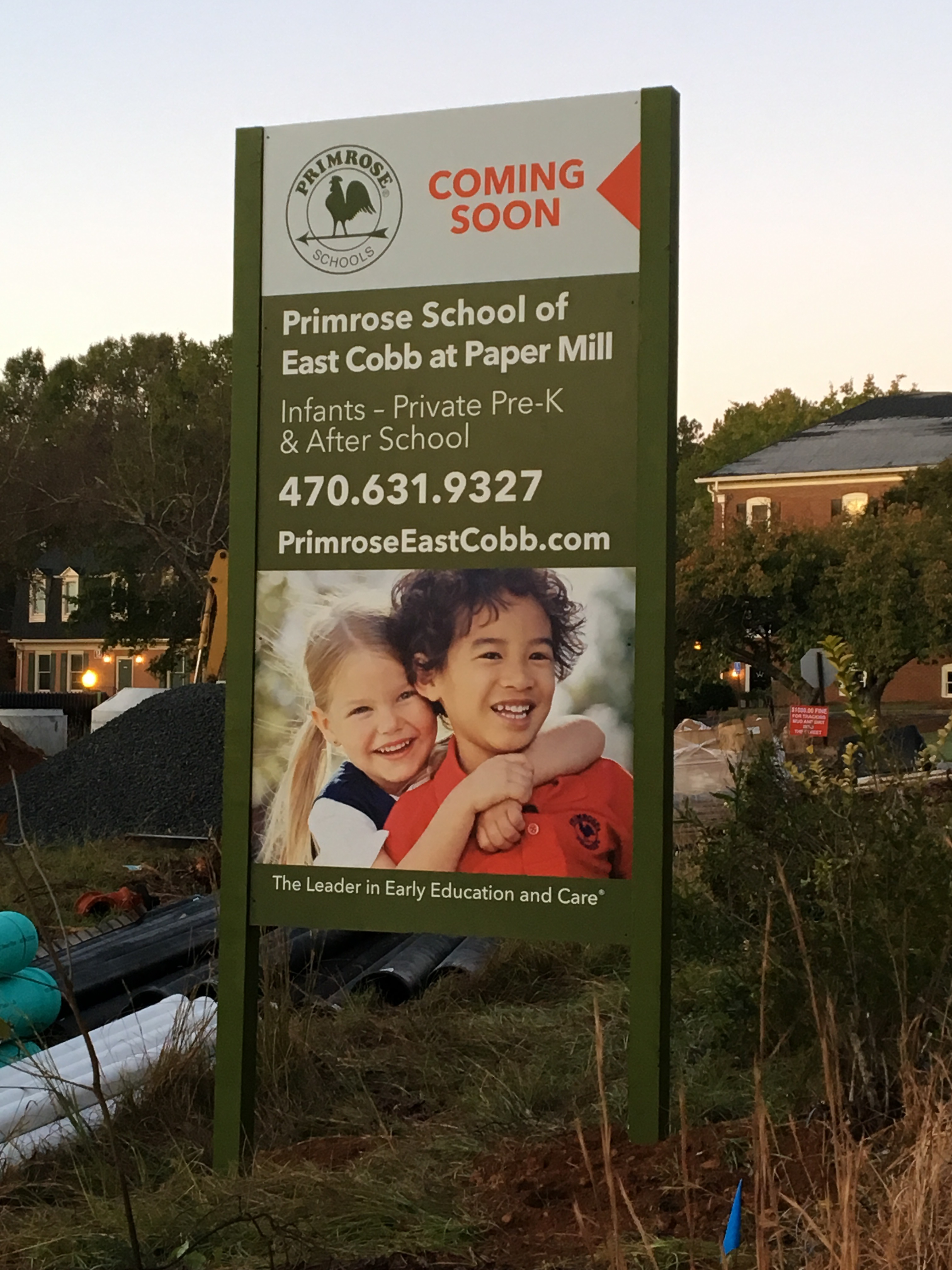 Primrose School of East Cobb at Paper Mill Coming Soon